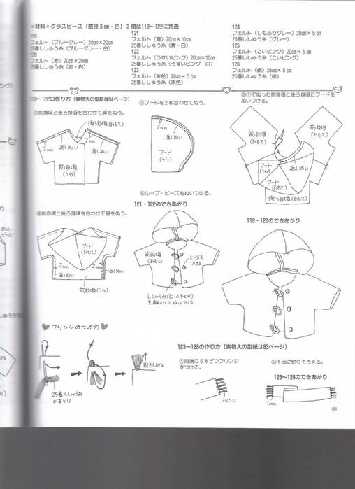Миниатюрные игрушки из фетра. Японский журнал 081 (508x700, 163Kb)