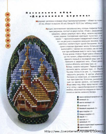 Вышивка бисером схемы пасхальных яиц 529