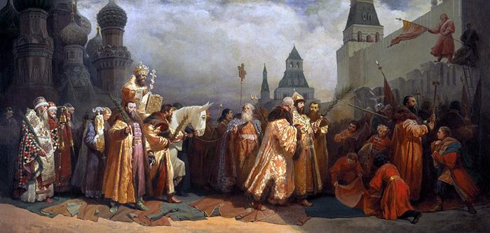 Шварц - Вербное воскресенье в Москве при царе Алексее Михайловиче