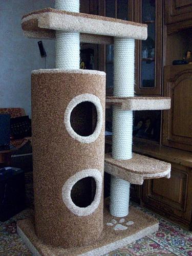 Комплекс для кошек своими руками фото