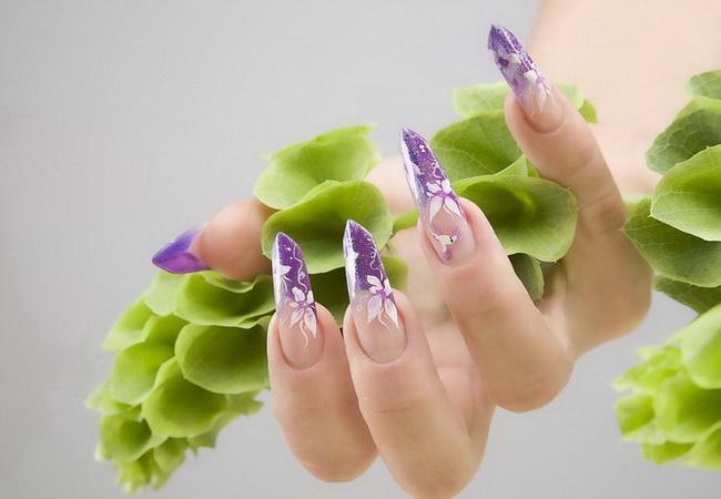 цветочный дизайн ногтей 2012