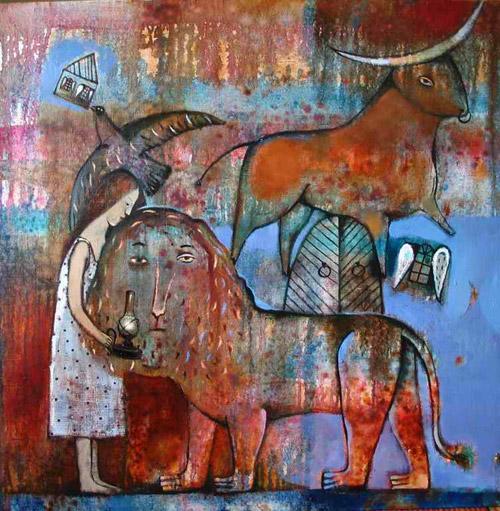 Анны Силивончик лев (470x535, 111Kb)