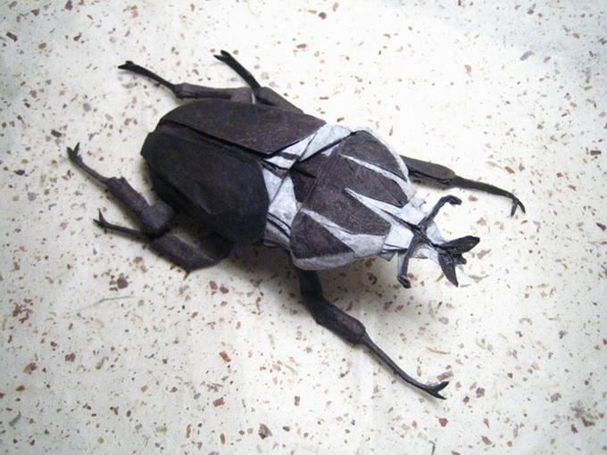 Интересное творчество, насекомые оригами, насекомые оригами из бумаги, Brian Chan.