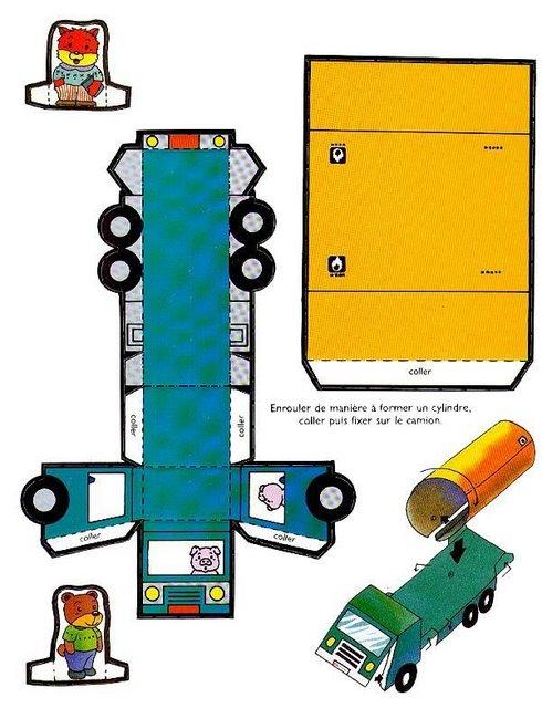Как из бумаги сделать машинку детскую