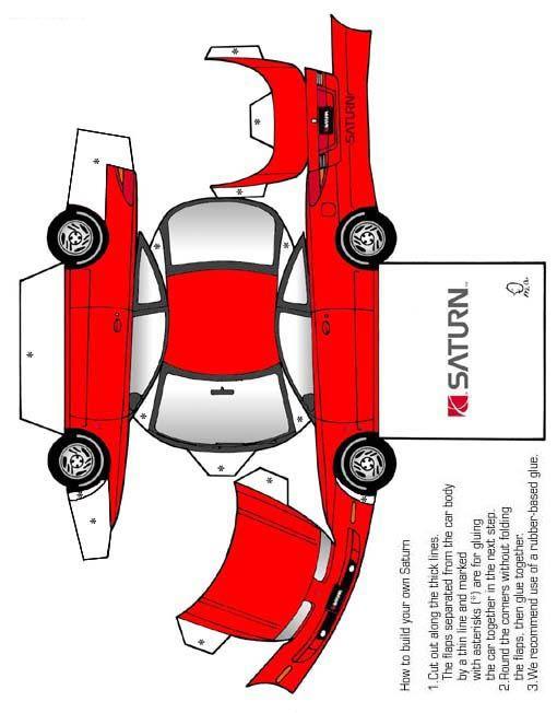 Как сделать из бумаги машину гоночную машину