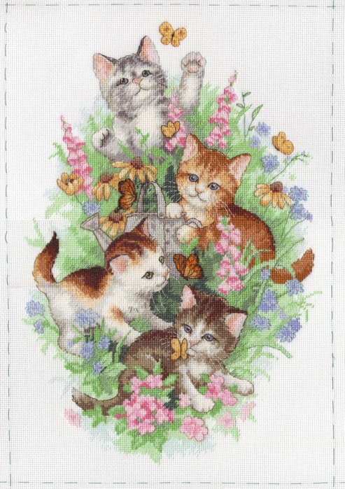 "Схема - 35066 -  ""Playful Kitties "", фото 1 - I.B.STUDIO-вышивка бисером, канва с рисунком, схемы для вышивки крестиком."