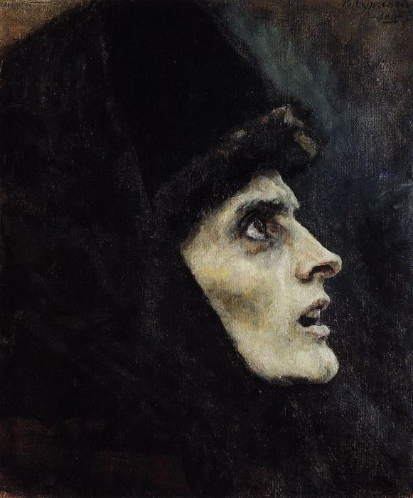 Голова боярыни Морозовой1. 1886 (581x700, 118Kb)