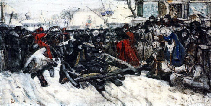 Боярыня Морозова. 1884-1885 (700x352, 108Kb)