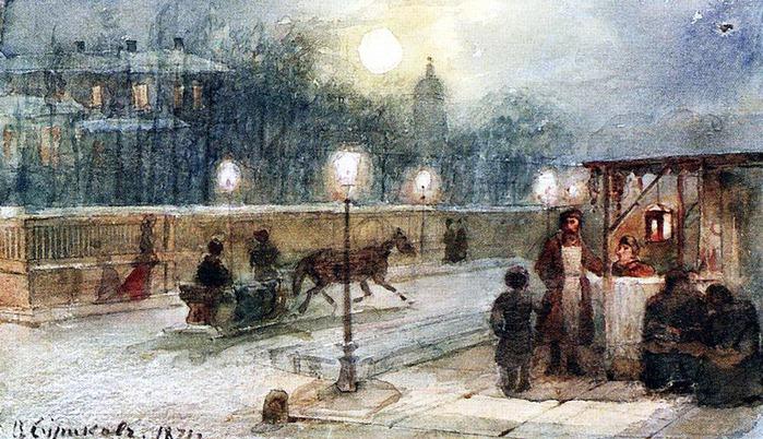 Вечер в Петербурге. 1871 (700x402, 149Kb)
