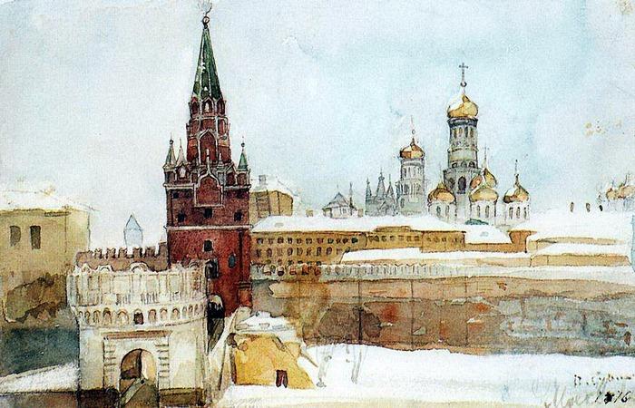 Вид на Кремль зимой. 1876 (700x450, 134Kb)