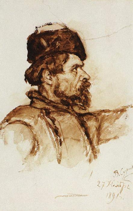 Голова казака. 1891 (442x700, 90Kb)
