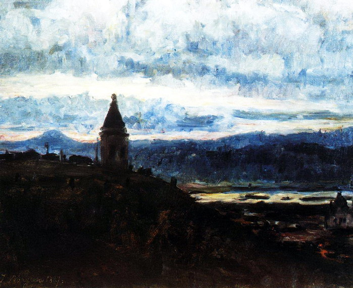 Вид Красноярска. 1887 (700x570, 116Kb)