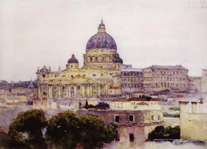 Собор Святого Петра в Риме. 1884 (700x505, 99Kb)