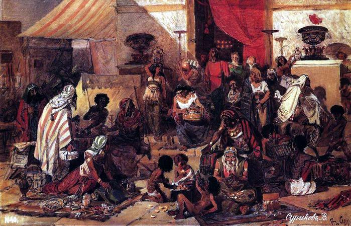Изгнание Христом торгующих из храма. 1873 (700x449, 164Kb)