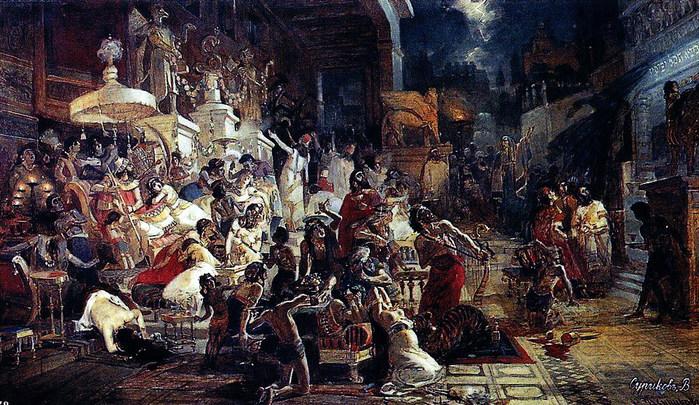 Пир Валтасара. 1874 (700x405, 153Kb)