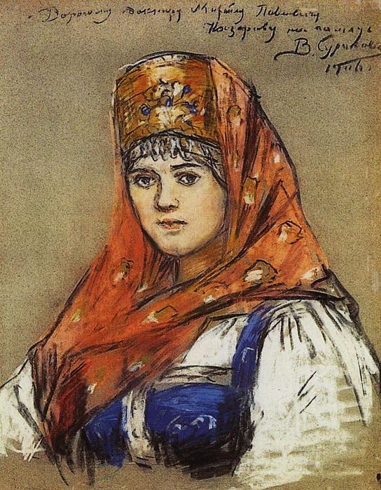 Портрет боярышни (544x700, 187Kb)