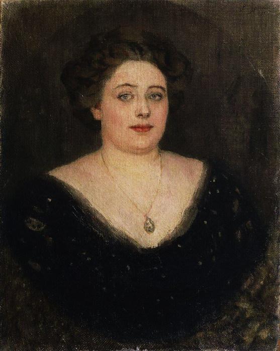 Портрет О.М.Величкиной, урожденной баронессы Клодт фон Юргенсбург. 1914 (557x700, 105Kb)