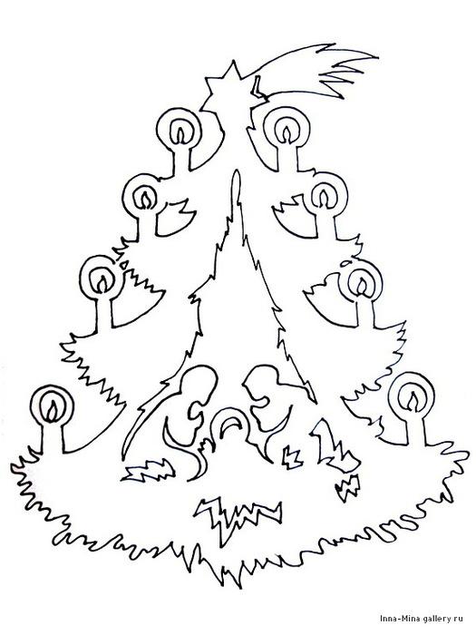 Вытынанка своими руками схемы новогодние 2015