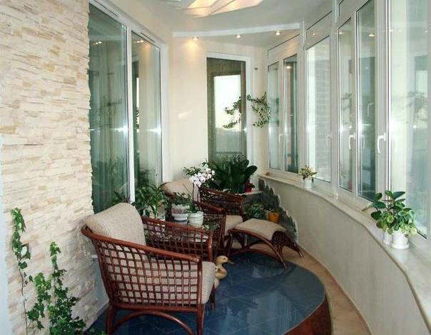 Варианты обустройства балконов