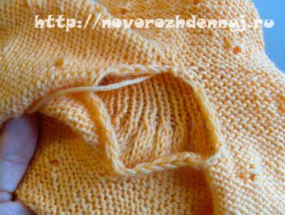 Вязание детских штанишек спицами.