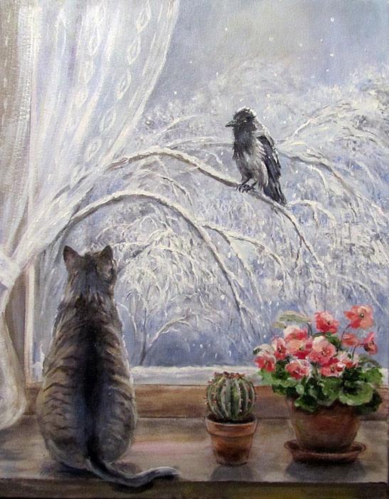 Воробьева Ольга. Февраль (547x700, 117Kb)