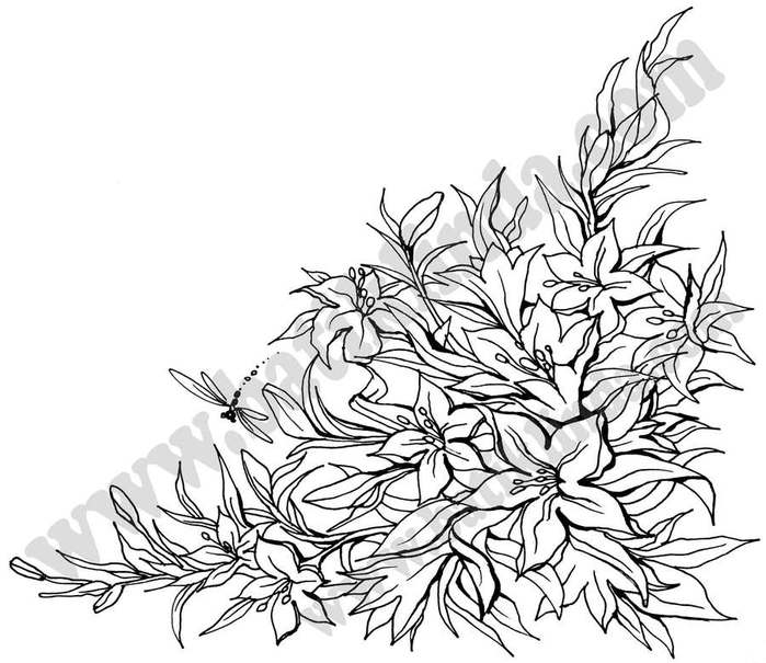 Картинки цветов для батика 1