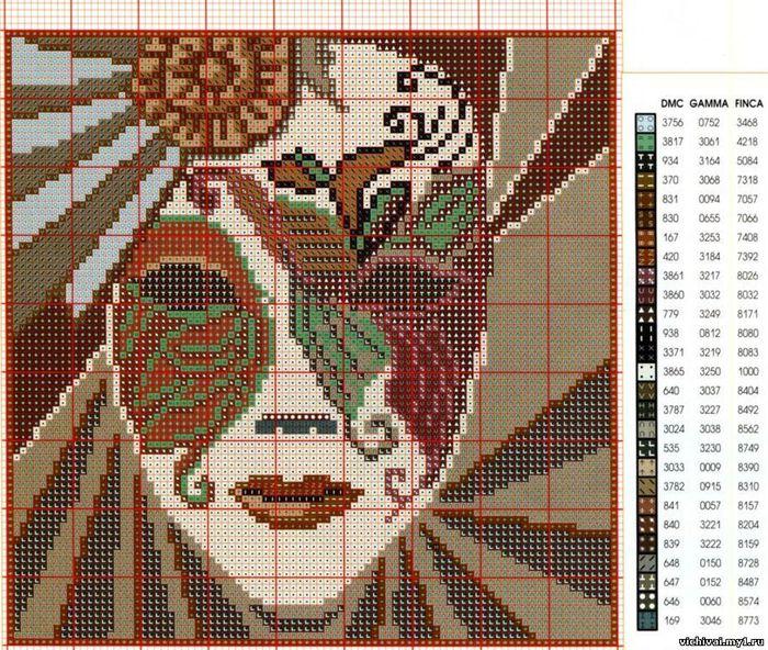 вышивка крестом подушек схемы орнаментов