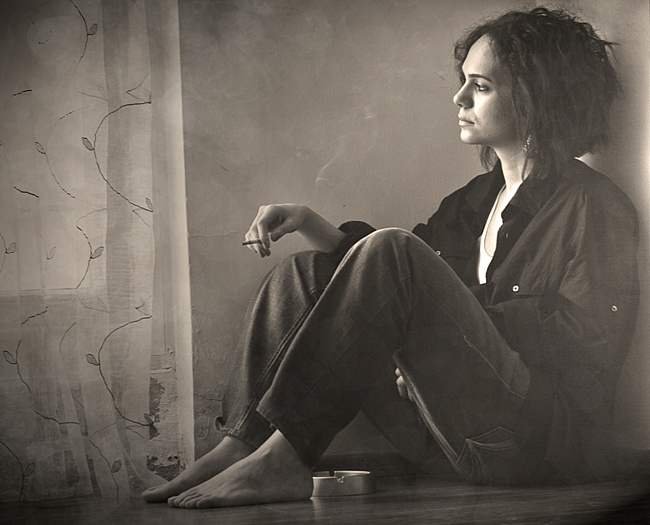 фото грусть женская