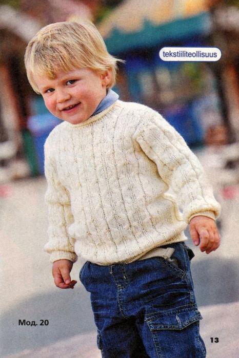 Традиционный и значит удачный способ вязания детского пуловера читайте на этой странице.  Пуловер на мальчика 2, 3, 4...