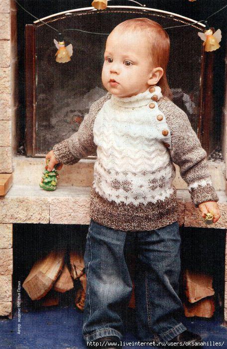 Вязаный свитер для малыша 4