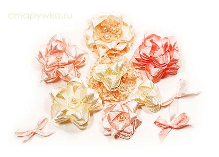 Цветы из атласных лент своими руками