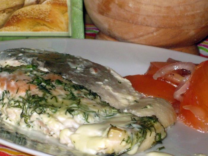 Горбуша в сливочном соусе рецепт с фото