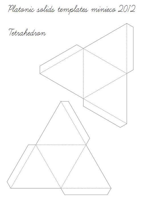 Многогранники из бумаги схемы