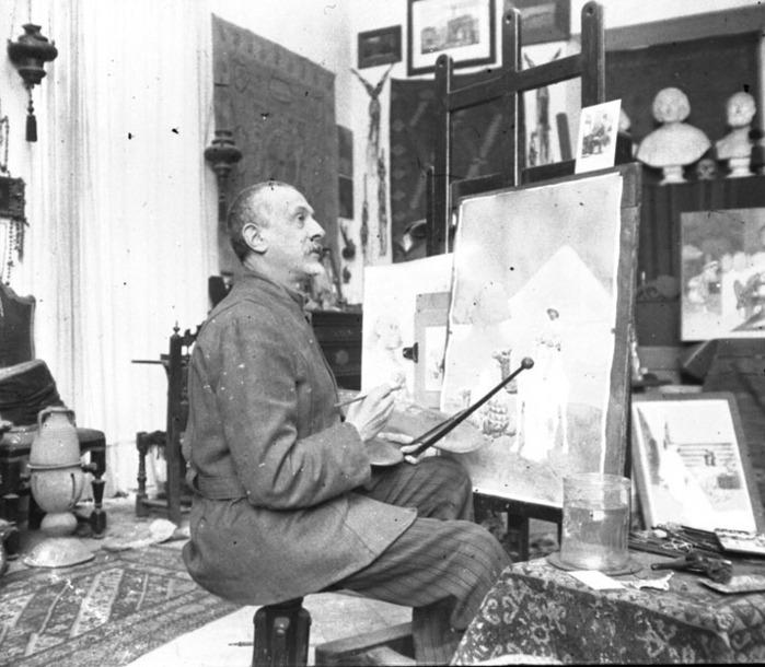 Portrait of the artist in his studio (700x610, 108Kb)