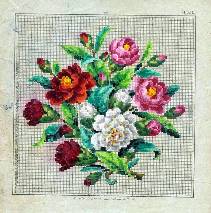 Старые схемы вышивки крестом