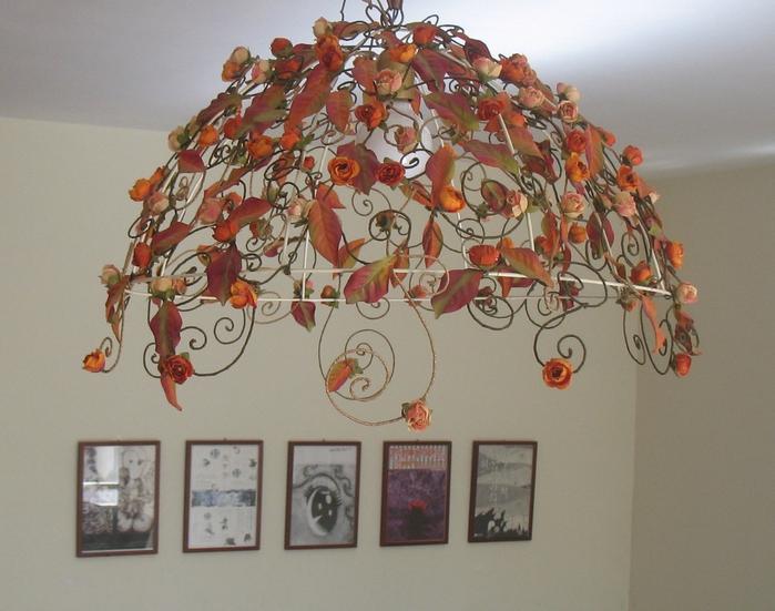 Декор абажура своими руками фото