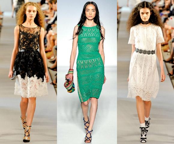 Модные кружевные платья 2012: В своих коллекциях Valentino, Oscar de la...