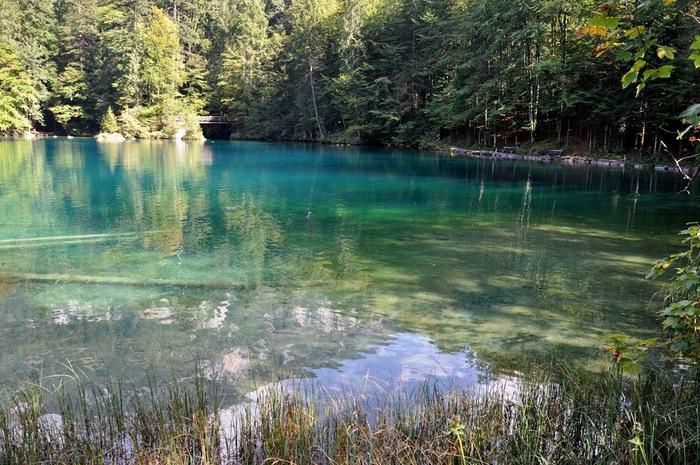 На холодно-синем стекле воды - Blausee 24808
