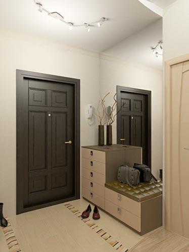 Прихожая в трехкомнатной квартире дизайн фото