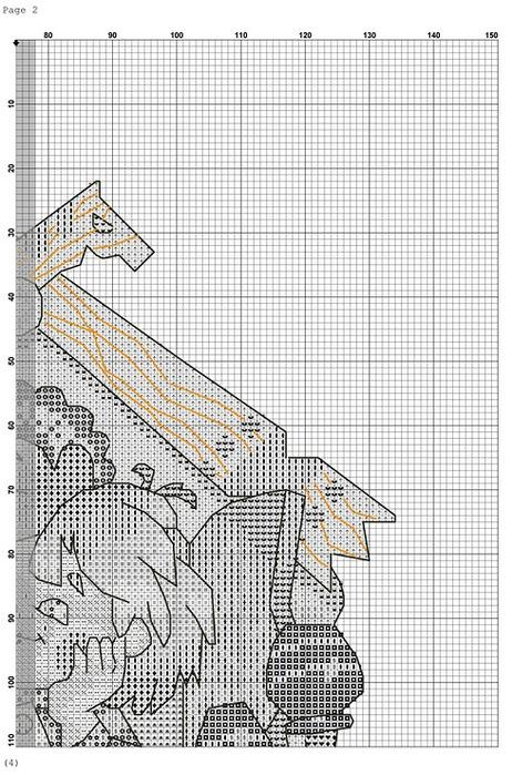 Вышивка схема вышивки домашнего оберега 444