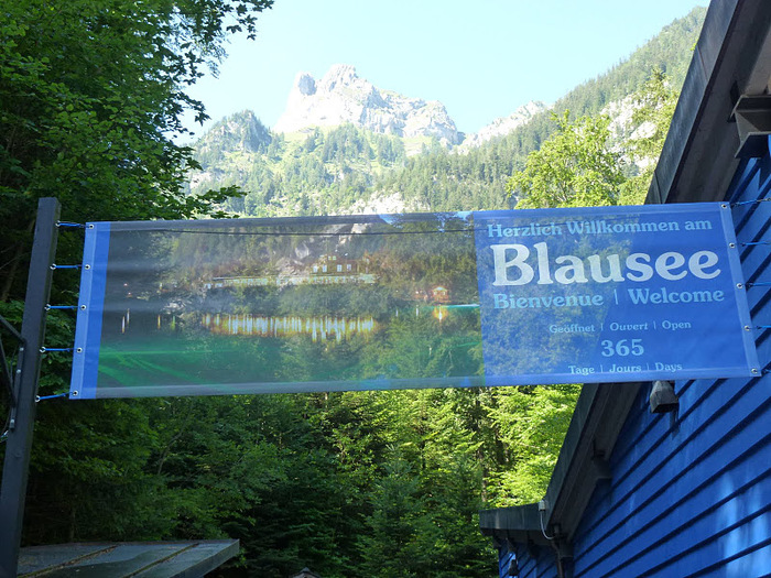 На холодно-синем стекле воды - Blausee 41084