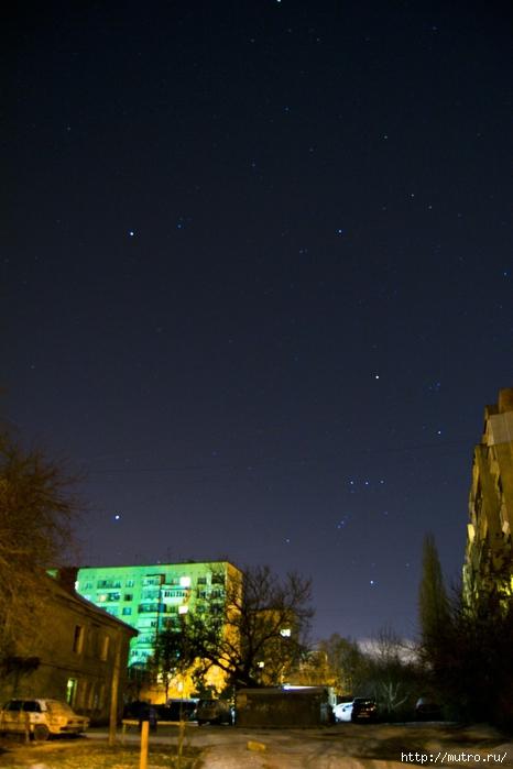 одесса ночное небо, зима
