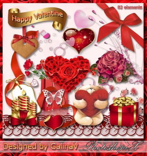 Праздничный скрап-набор - Счастливый Валентин (472x500, 107Kb)