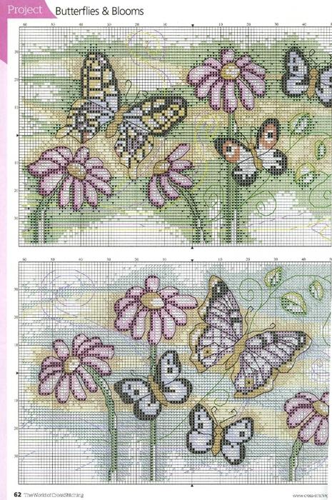 акварельные бабочки схема1 (465x700, 336Kb)