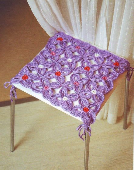 Чехол для табуретки вязание