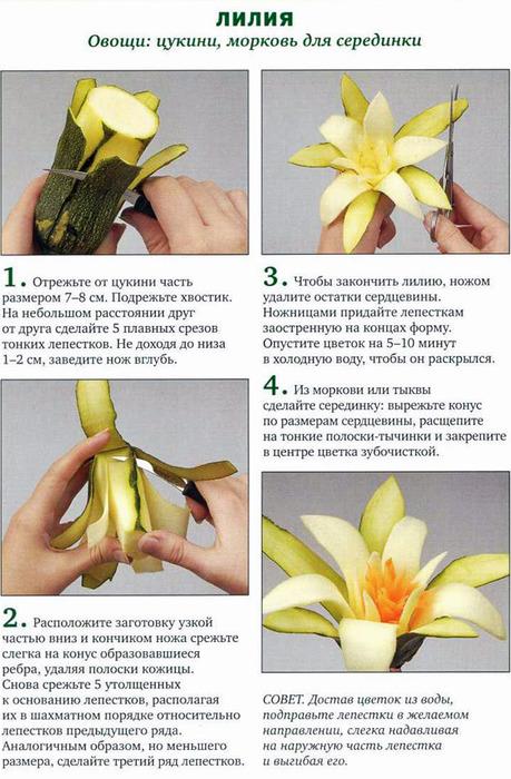 состав белья как вырезать цветы из овощей лучшим материалом