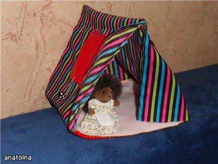 Как сделать игрушечную палатку своими руками 95