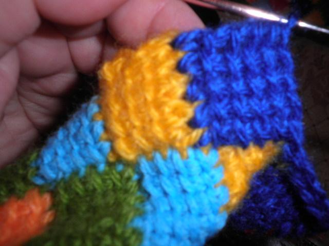 钩针:突尼斯针织袜子