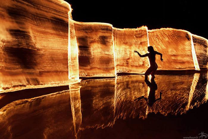 огонь, фото Tom Lacoste