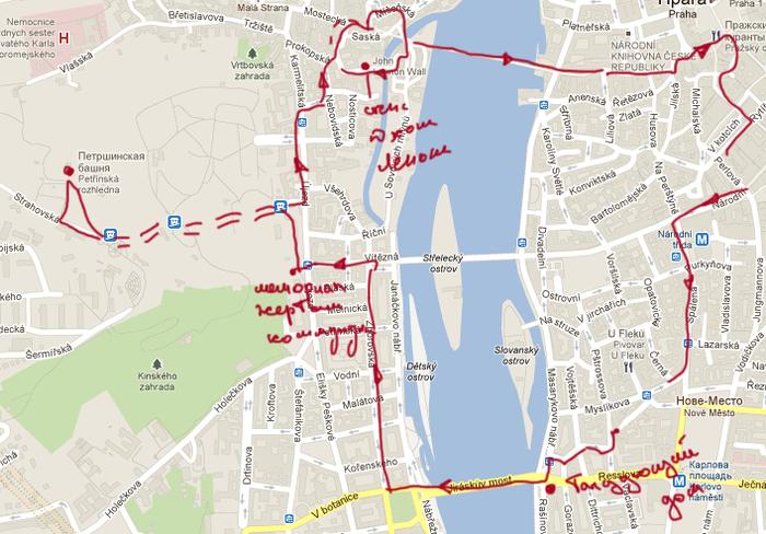 Пешком по праге самостоятельно маршруты